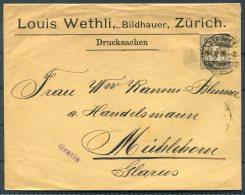 1900 Switzerland Zurich Cover - Muhlehorn - Cartas