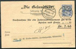 1904 Switzerland Bern - Albisbieden Nachnahme Postcard - Cartas