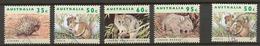 Australia 1992 Mi# 1314-17 (CTO) DEFINITIVES, FAUNA, THREATENED SPECIES - 1990-99 Elizabeth II