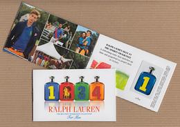 CC Carte Parfumée 'RALPH LAUREN' 1234 MAN Perfume Card  BOOKLET PATCHS X 4 - Modern (from 1961)
