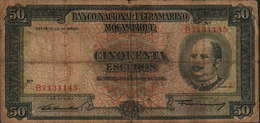 50 ESCUDOS DE MOÇAMBIQUE -24-07-1958-(B7131145)-BANCO NACIONAL ULTRAMARINO - Portugal