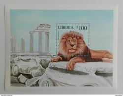 Liberia 2001** Bl.439. Lion MNH [5;18] - Postzegels