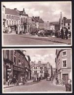 2 X OLD CARD ** ASHBOURNE DERBYSHIRE - MARKET PLACE & St JOHN STREET ** OLDTIMERS - Derbyshire
