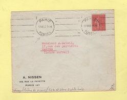 Krag - Paris Postes - Machine De Secours - 4 Lignes Droites Et 2 Fois 2 Petits Traits - 1930 - Postmark Collection (Covers)