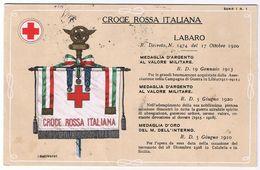 Labaro Con Medaglie D' Argento - V. 1922 - Croce Rossa