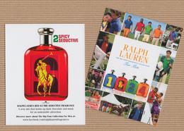 CC Carte Parfumée 'RALPH LAUREN' 1234 #2 Perfume Card PATCH 11.5 X 9 Cm - Modern (from 1961)