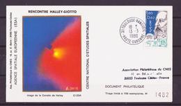 ESPACE - Comète De Halley - 1986/03 -  Rencontre De Giotto Avec La Comète - CNES/ESA/NASA - 9 Documents - Asia