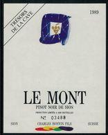 Etiquette De Vin // Pinot Noir De Sion, Valais, Suisse - Etiquettes