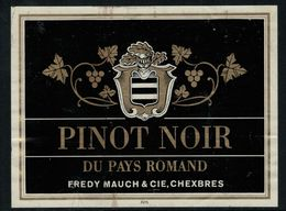 Etiquette De Vin // Pinot Noir Du Pays Romand, Chexbres, Vaud, Suisse - Etiquettes