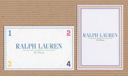 CC Carte Parfumée 'RALPH LAUREN' 1234 X 2 Perfume Card BLOTTERS - Modern (from 1961)