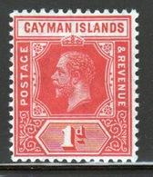 Cayman Islands 1912 George V 1d Red Definitive Stamp. - Cayman Islands