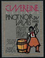 Etiquette De Vin // Pinot Noir Du Valais, Suisse - Etiquettes