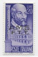 Trieste Zone A, Scott # 51 Mint Hinged Italy #524 Overprinted, 1949 - 7. Triest