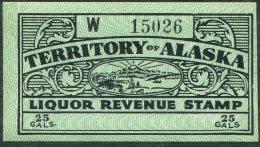 USA Alaska Liquor Revenue 25 Gals. Fine Hinged Mint - Revenues