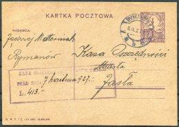 1927 Poland Stationery Postcard - 1919-1939 Republic