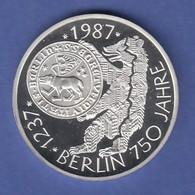 Bundesrepublik 10DM Silber-Gedenkmünze 1987  750 Jahre Berlin  PP - [ 7] 1949-… : RFA - Rép. Féd. D'Allemagne
