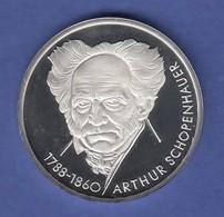 Bundesrepublik 10DM Silber-Gedenkmünze 1988  Arthur Schopenhauer  PP - [ 7] 1949-… : RFA - Rép. Féd. D'Allemagne