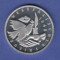 Bundesrepublik 10DM Silber-Gedenkmünze 1998 Westfälischer Friede PP - [ 7] 1949-… : RFA - Rép. Féd. D'Allemagne