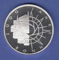 Bundesrepublik 10DM Silber-Gedenkmünze 1989  2000 Jahre Bonn  PP - [ 7] 1949-… : RFA - Rép. Féd. D'Allemagne