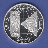 Bundesrepublik 10DM Silber-Gedenkmünze 1996  Adolf Kolping, Gesellenverein PP - [ 7] 1949-… : RFA - Rép. Féd. D'Allemagne