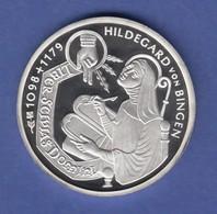 Bundesrepublik 10DM Silber-Gedenkmünze 1998 Hildegard Von Bingen PP - [ 7] 1949-… : RFA - Rép. Féd. D'Allemagne