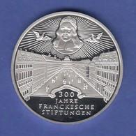 Bundesrepublik 10DM Silber-Gedenkmünze 1998  Franckesche Stiftungen Halle  PP - [ 7] 1949-… : RFA - Rép. Féd. D'Allemagne