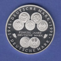 Bundesrepublik 10DM Silber-Gedenkmünze 1998  50 Jahre DM-Einführung  PP - [ 7] 1949-… : RFA - Rép. Féd. D'Allemagne