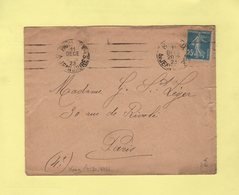 Krag - Paris XIX Av Jean Jaures - 4 Lignes Droites  - 1923 - Postmark Collection (Covers)
