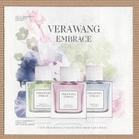 CC Carte Parfumée 5x5 ' VERAWANG' EMBRACE Perfume Card - Modern (from 1961)