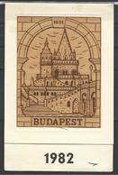 Hungary, Budapest, Fisherman's Bastion, 1982, Made From Plywood. - Small : 1981-90
