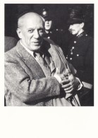PICASSO ARRIVING IN BRITAIN 1950. REPRINT - Famous People