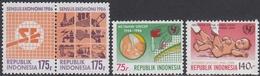 Indonesia 1986 - Economic Census; 40th Anniversary Of UNICEF: Vaccination - Mi 1190-1191, 1192-1193 ** MNH - Indonesia