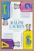 CC Carte Parfumée 'RALPH LAUREN' 1234 Perfume Card PATCH X 4 15 X 10 Cm - Modern (from 1961)