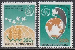 Indonesia 1986 -  International Peace Year - Mi 1212-1213 ** MNH - Indonesia