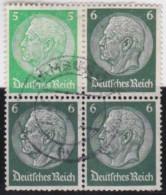 Deutsches  Reich   .    Michel      .  W  69   .      O      .        Gebraucht  .   /  .   Cancelled - Se-Tenant