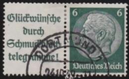 Deutsches  Reich   .    Michel      .   W 81    .      O      .        Gebraucht  .   /  .   Cancelled - Zusammendrucke