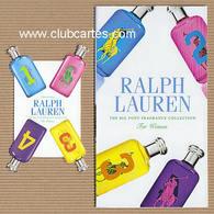 CC Carte Parfumée 'RALPH LAUREN' 1234 MAN Perfume Card  BOOKLET & BLOTTER - Modern (from 1961)