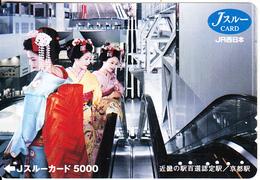 JAPAN - 3 Geishas, JR Ticketcard Y5000, Used - Unclassified