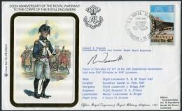 1987 Gibraltar Royal Engineers Signed Flight Cover. RAF Lyneham - Gibraltar
