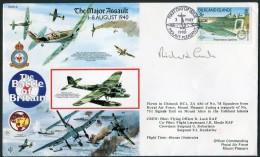 1990 Falkland Islands AF Mount Pleasant Flight Cover. 1940 Battle Of Britain Spitfire - Falkland Islands