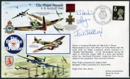 1990 GB RAF Wyton Signed BFPS Flight Cover. 1940 Battle Of Britain Spitfire Norway. Victoria Cross - 1952-.... (Elizabeth II)