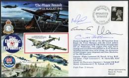1990 GB RAF Manston Signed BFPS Flight Cover. 1940 Battle Of Britain. Dunkirk - 1952-.... (Elizabeth II)