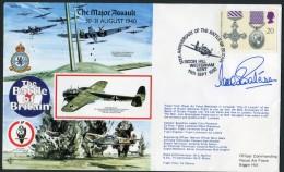 1990 GB RAF Biggin Hill Signed BFPS Flight Cover. 1940 Battle Of Britain. - 1952-.... (Elizabeth II)
