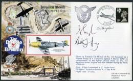 1990 GB RAF Leuchars Signed BFPS Flight Cover. 1940 Battle Of Britain. - 1952-.... (Elizabeth II)