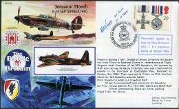 1990 GB RAF Northolt Signed BFPS Flight Cover. 1940 Battle Of Britain. Limited Edition Of 11 - 1952-.... (Elizabeth II)