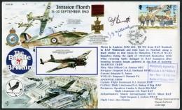 1990 GB IOM RAF Northolt Signed BFPS Flight Cover. 1940 Battle Of Britain. - 1952-.... (Elizabeth II)