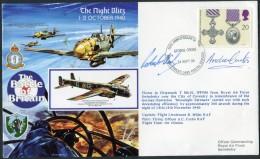 1990 GB RAF Swinderby Signed BFPS Flight Cover. 1940 Battle Of Britain. - 1952-.... (Elizabeth II)