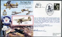 1990 GB RAF Wattisham Signed Flight Cover. 1940 Battle Of Britain. Coventry Bombing - 1952-.... (Elizabeth II)
