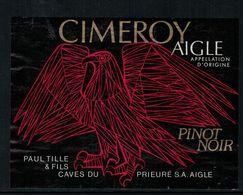 Etiquette De Vin // Pinot Noir De Aigle, Vaud, Suisse - Feathers
