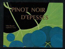 Etiquette De Vin // Pinot Noir D'Epesses, Vaud, Suisse - Labels
